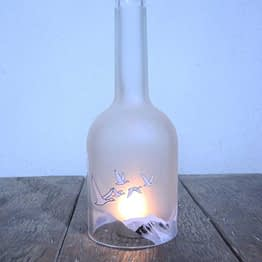 grey goose bottle candle holder